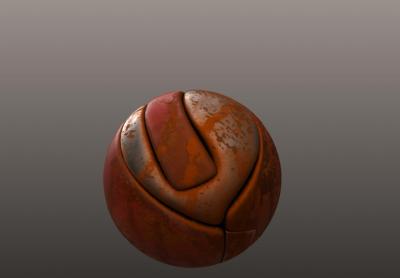 palla arrugginita