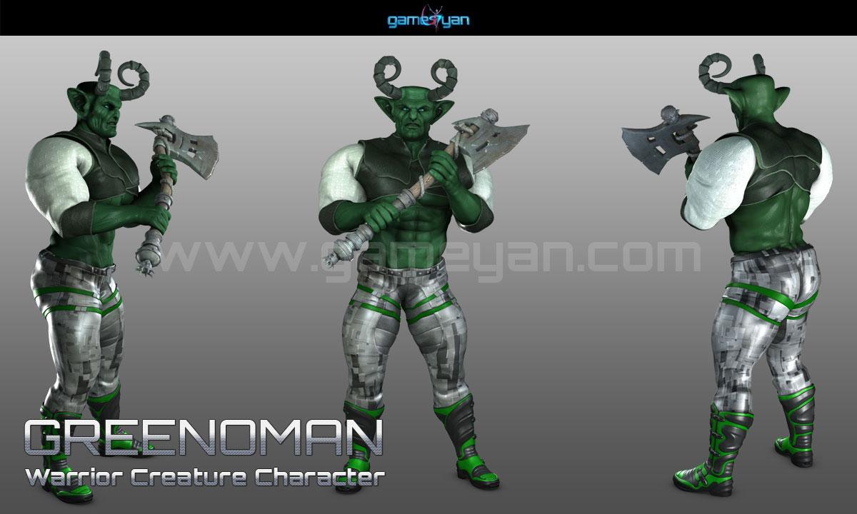 Warrior Creature Character Animation