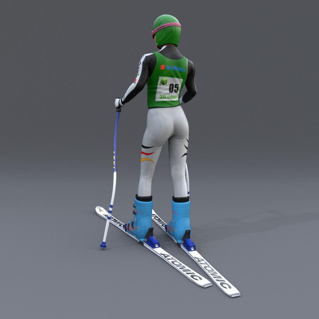 Skifahrer Back