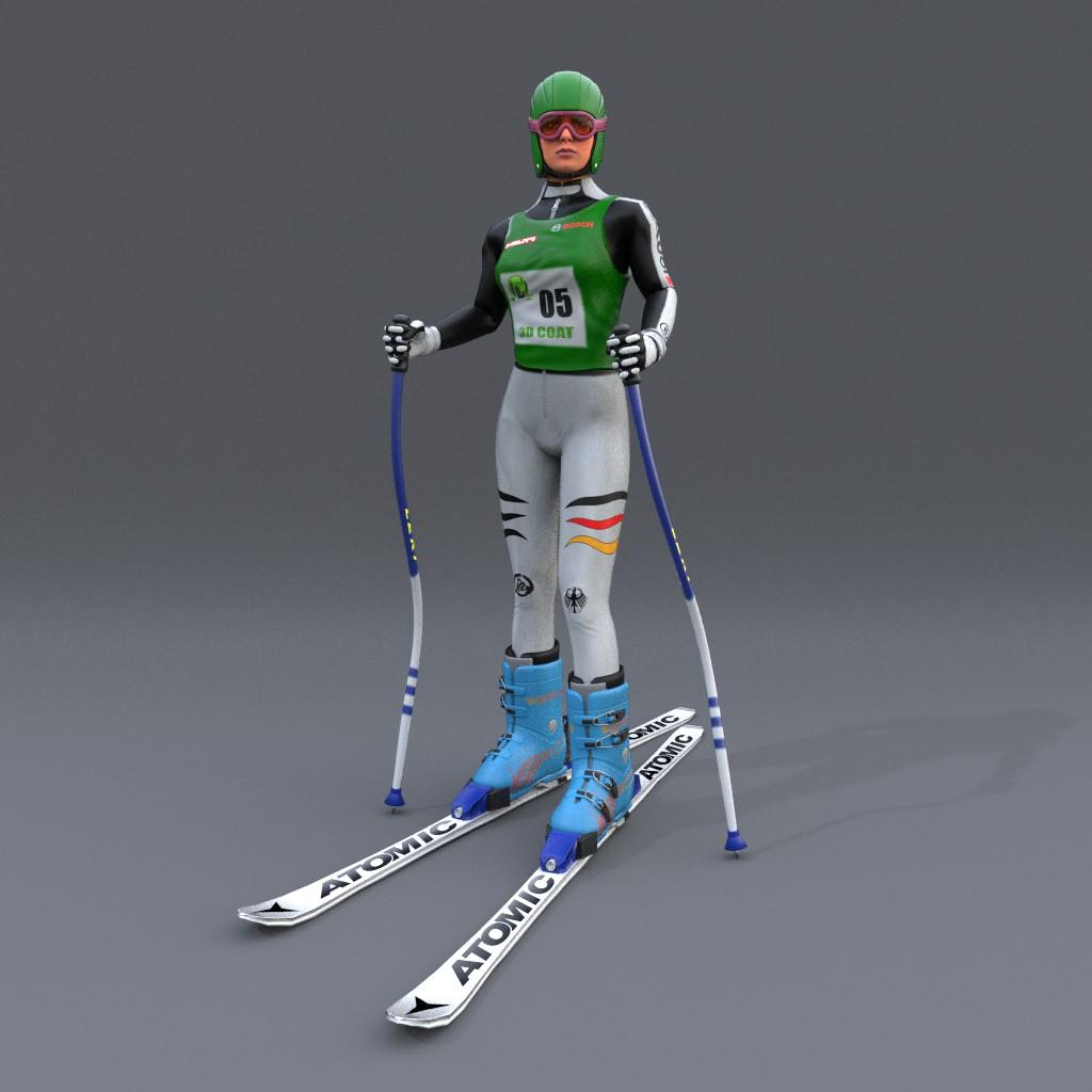 Skifahrer Front