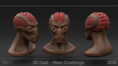 Alien Challenge Head