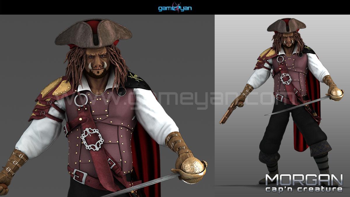 Morgan Capn Creature Character Modeling