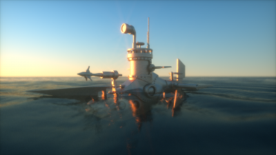 old voxel submarine and octane