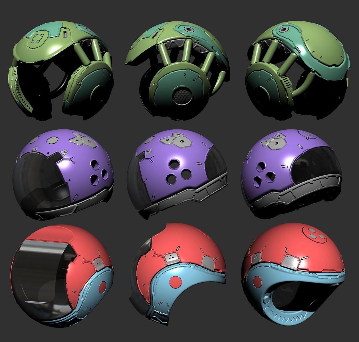 Helmet design set 06
