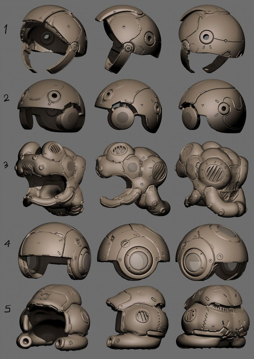 Helmet design set 04