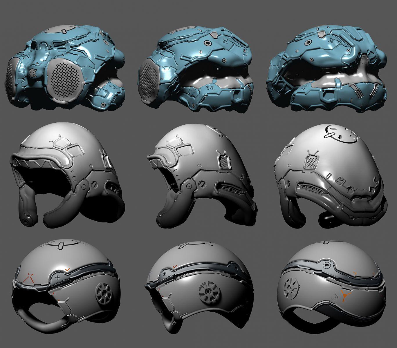 Helmet design set 07