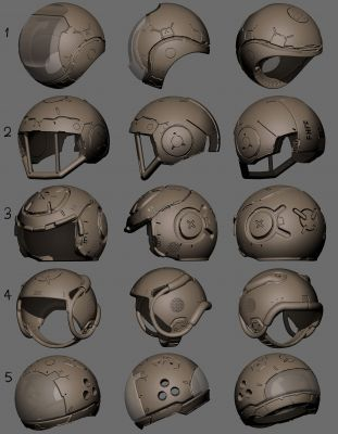 Helmet design set 03
