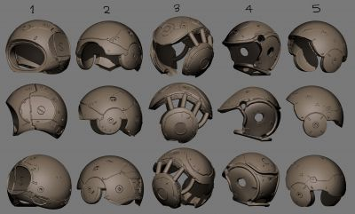 Helmet design set 02