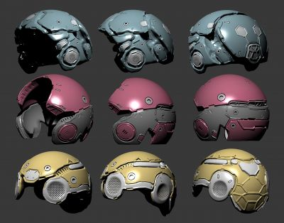 Helmet design set 05
