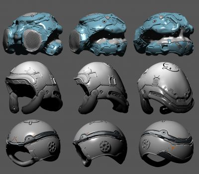 Helmet design set 07