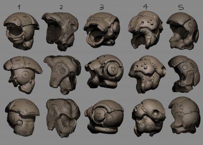 Helmet design set 01