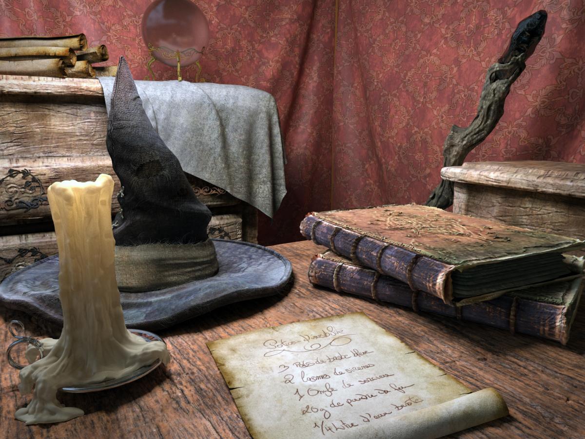 Wizard's desk