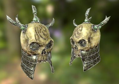 skull render wireframe