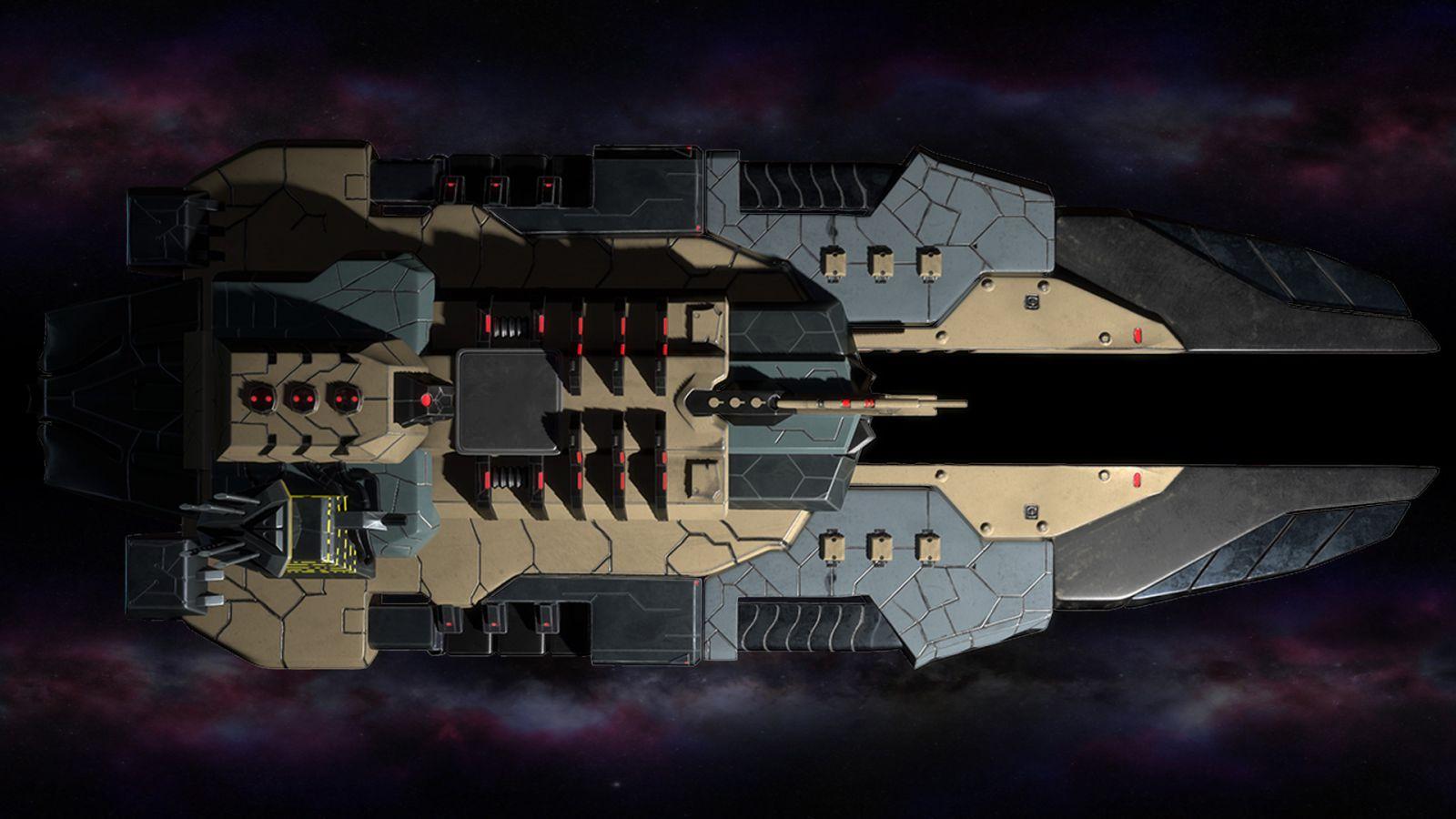 Polaris sector game. Human race. Frigate