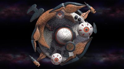 Polaris Sector Game. Gavakens race. Military satellite