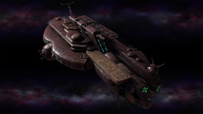 Polaris Sector game. Sharatars race. Frigate