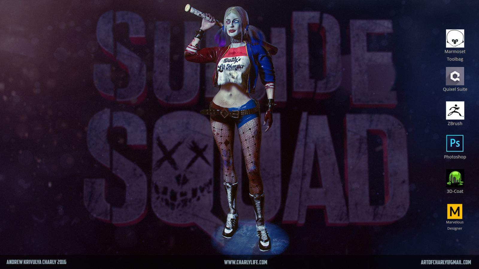 Harley Quinn from Suicide Squad fan art