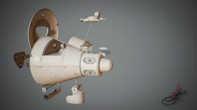apollo_starship_tin_toy_masudaya_wires