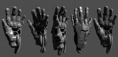 Glovebase mech hand