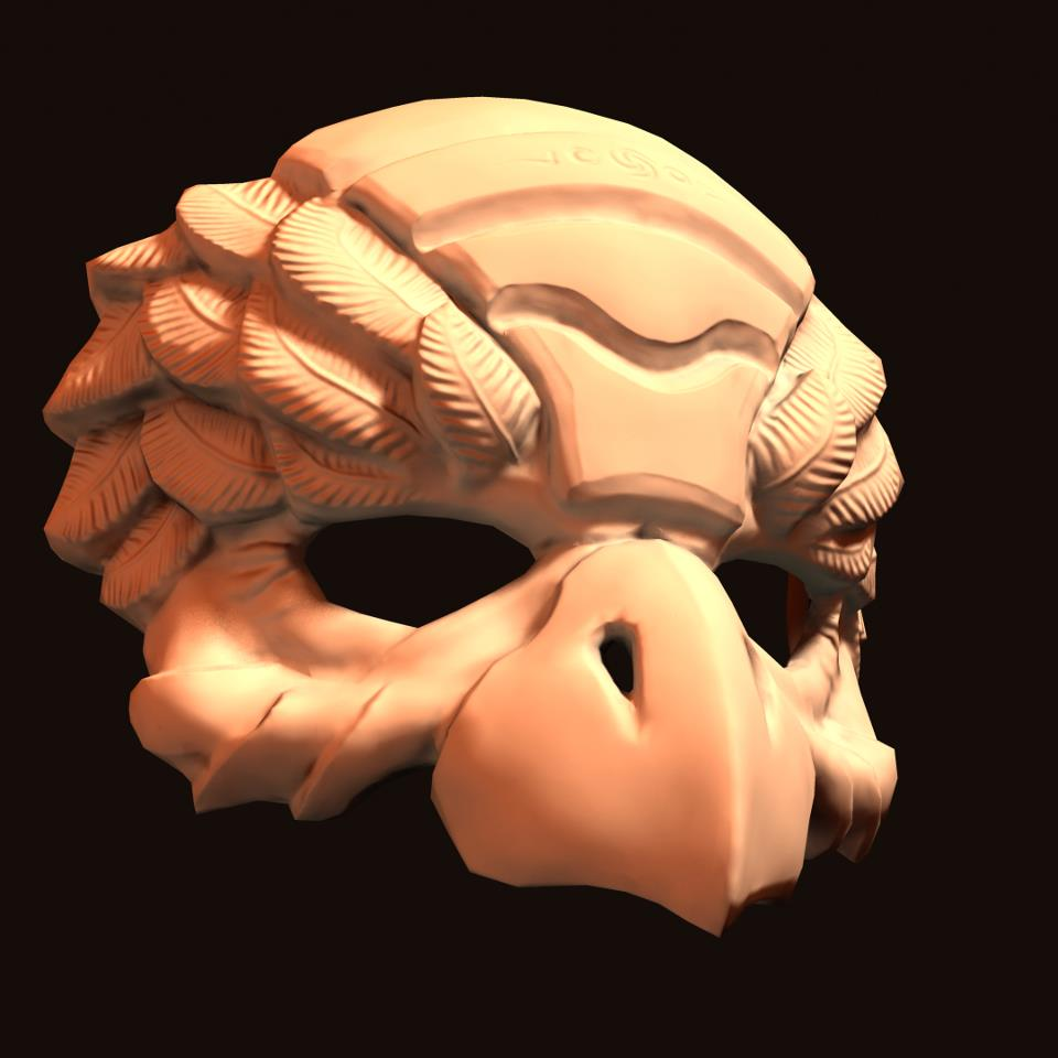 Bird mask. sculpting, retopo and NM baking made in 3d-coat