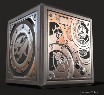 Marine Clock. Model and textures made in 3d-coat.