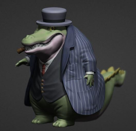 Mafian alligator sculpt finish