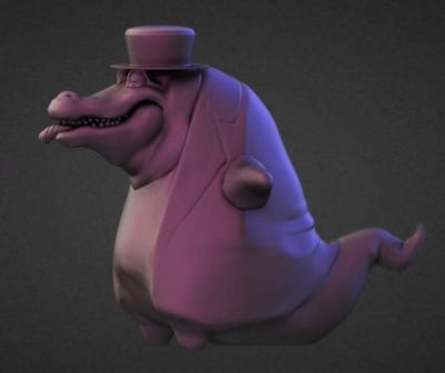 Mafian alligator sculpt