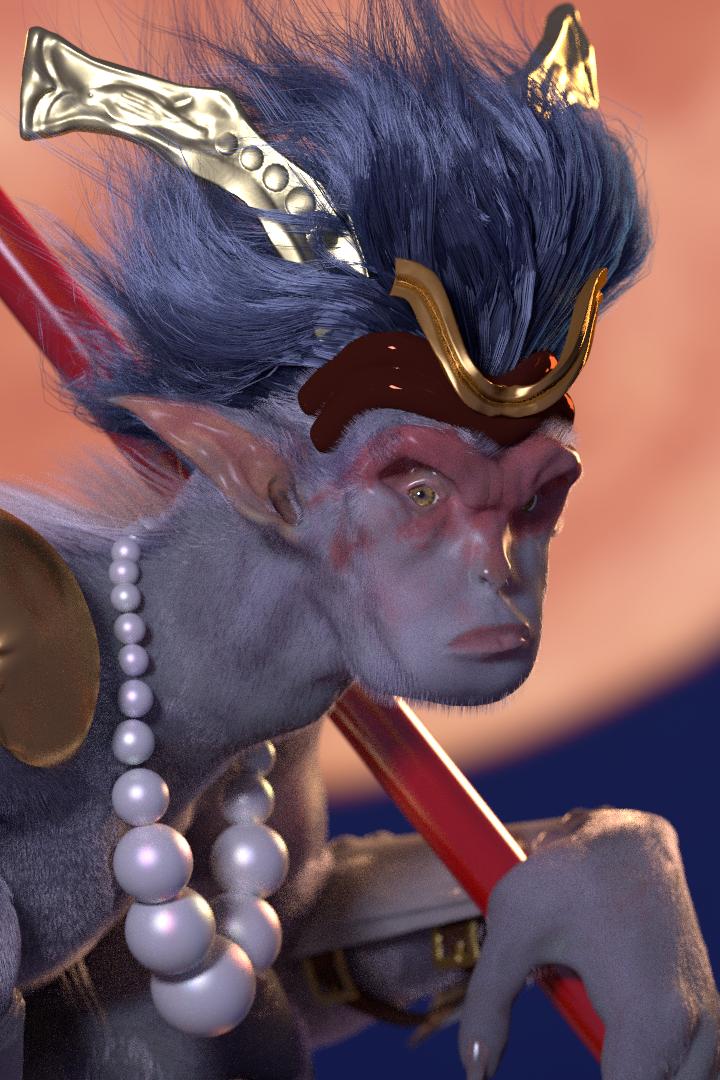 Monkey King closeup