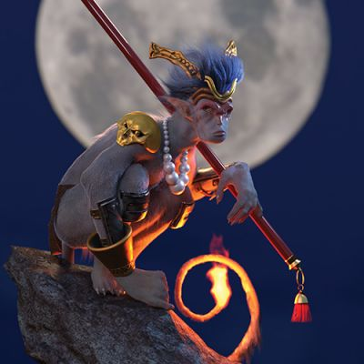 Monkey King PBR makeover and rerender
