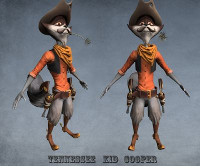 WIP sculpt Tennessee Kid cooper color 01