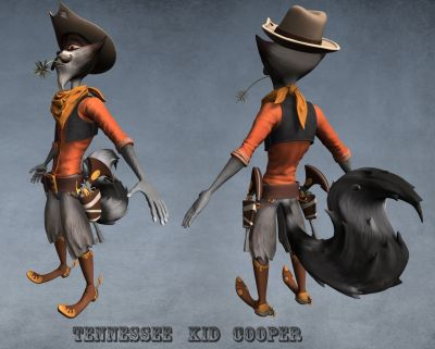 WIP sculpt Tennessee Kid cooper color 02