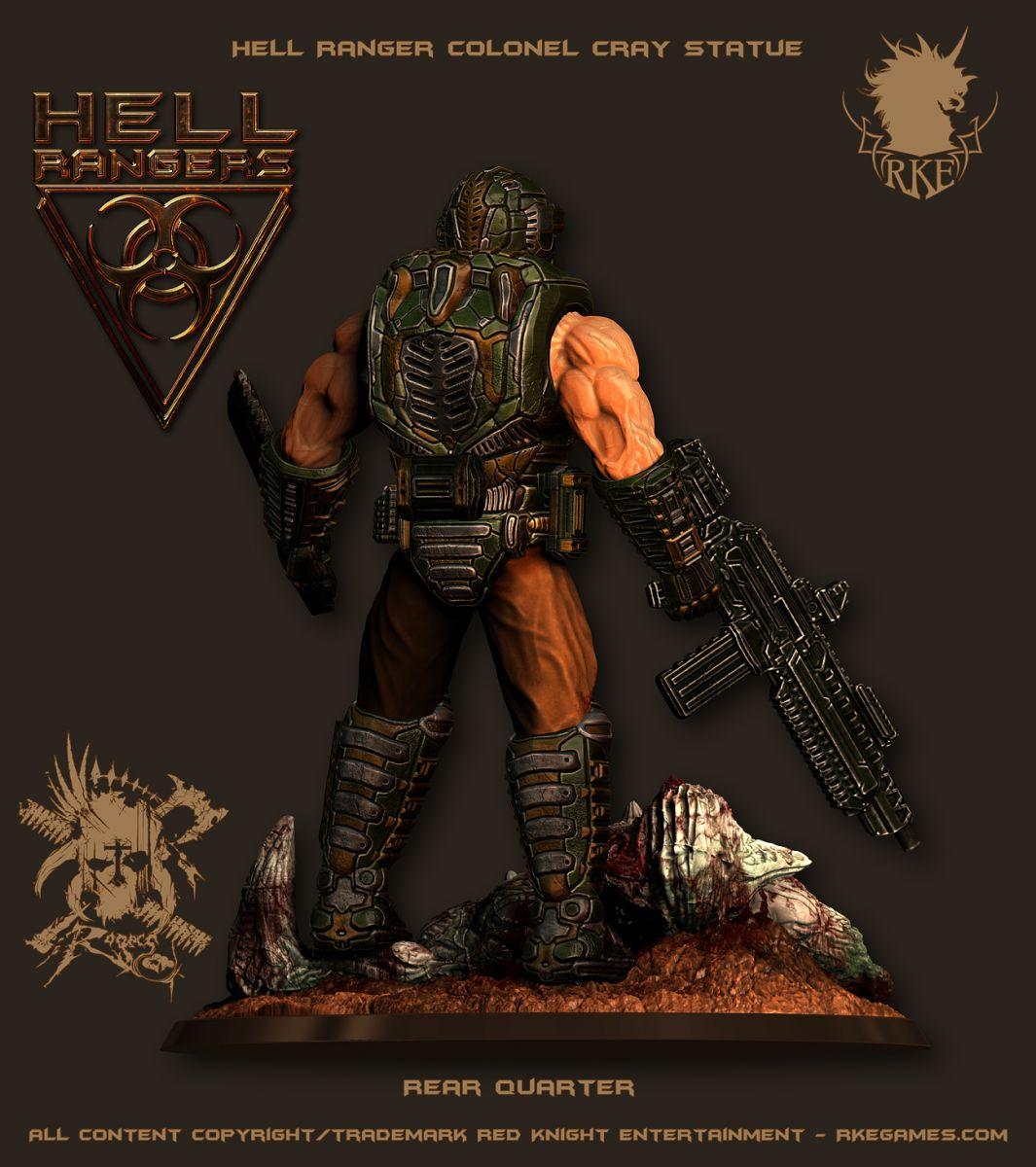 HR Ranger PreviewPic 008 ColonelCrayStatue 002 Hell Rangers RKE