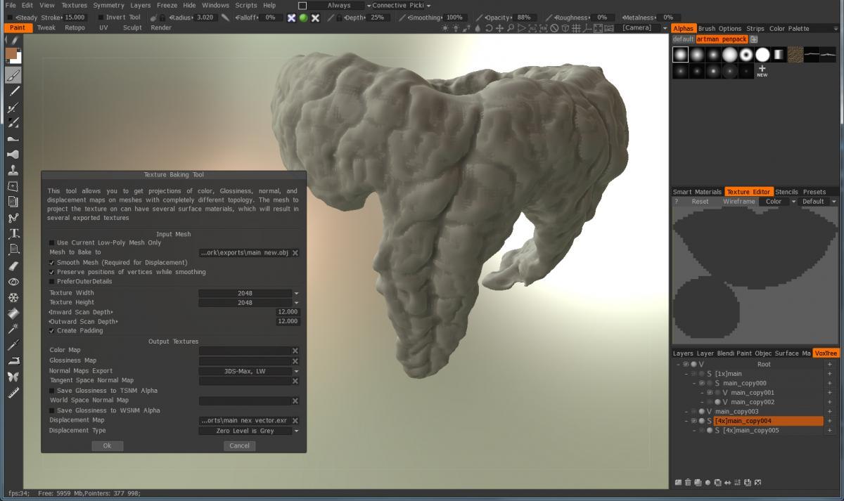 Displacement map is pixelated & useless? - 3DCoat - 3D Coat