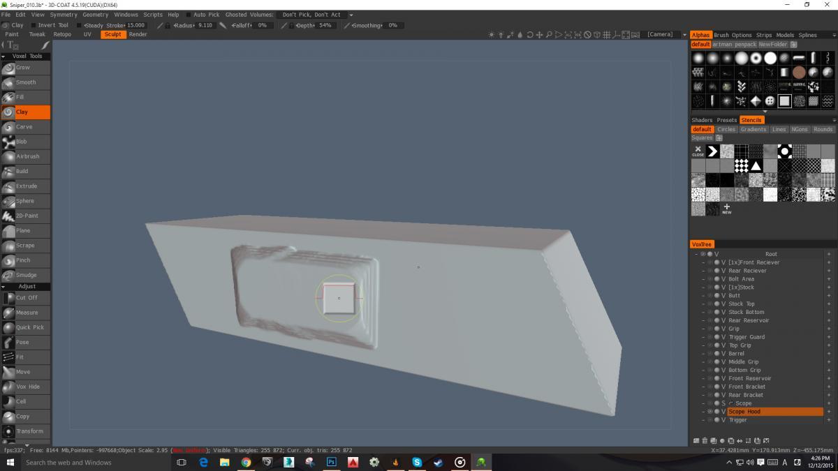 Voxel sculpting brushes not working!!!!!! - 3DCoat - 3D Coat Forums