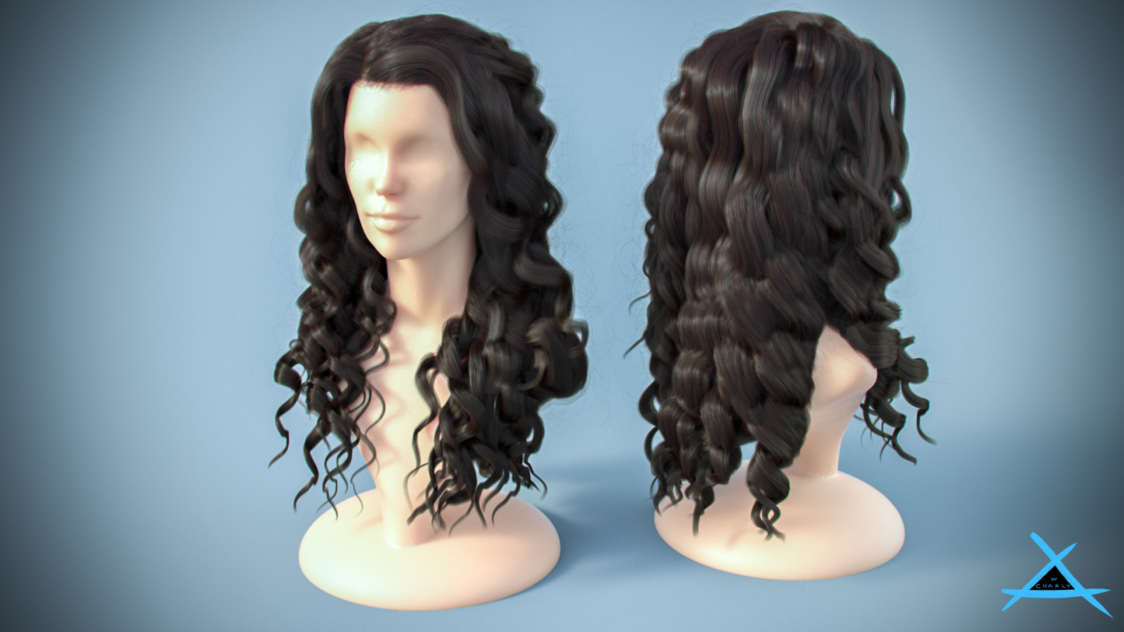 Girl hair render ( Type 2) - Vray