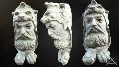 Hercules head sculpture