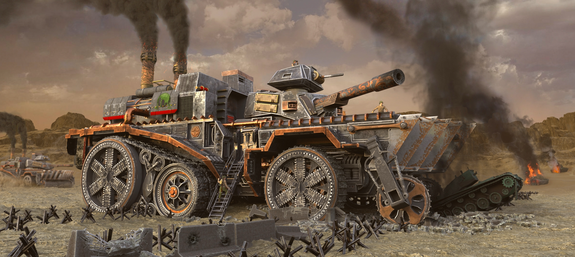 Steampunk Vehicle - Tank Fortress - Page 3 - Official