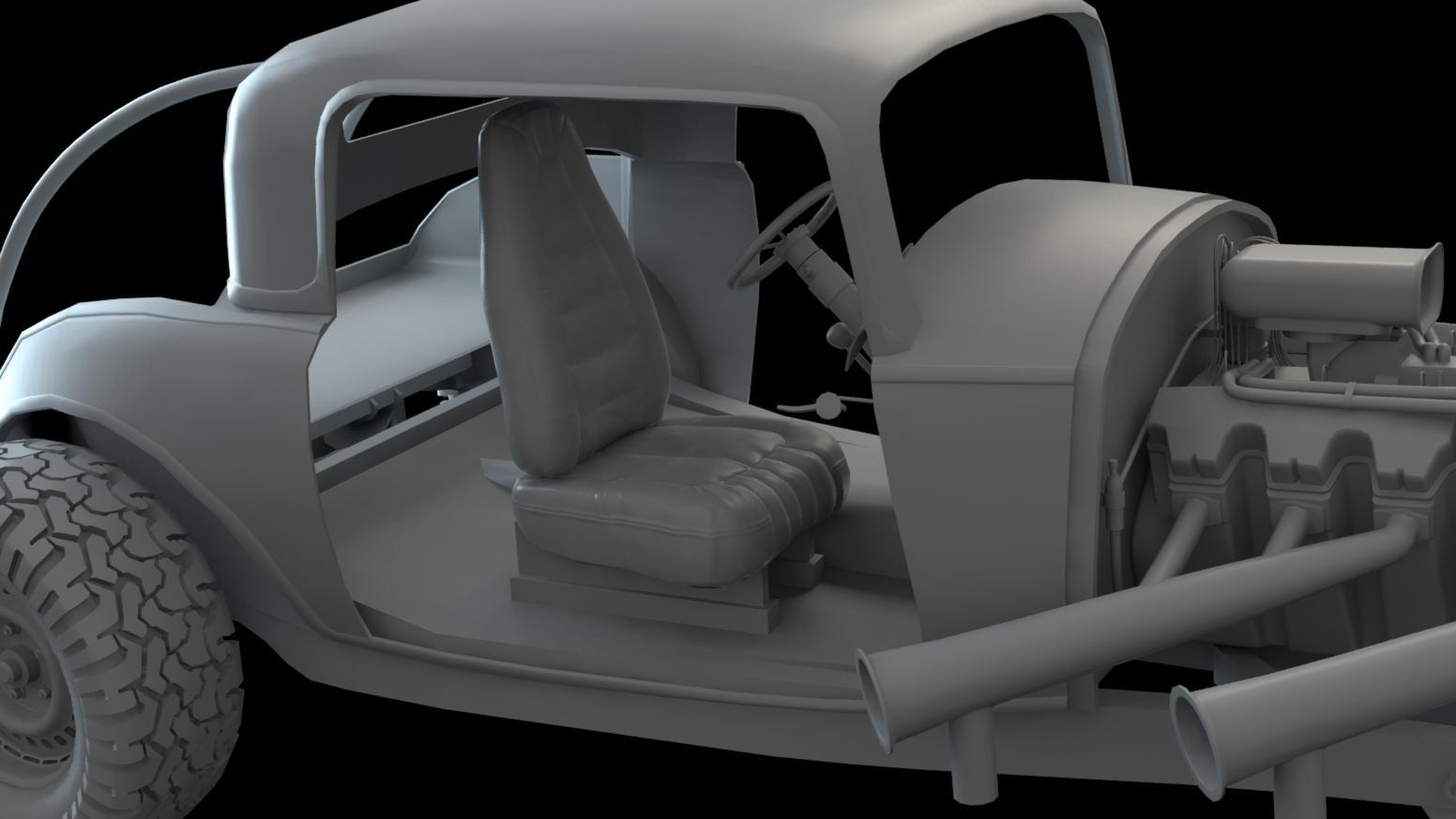 Interior w/ Seats, Door Ripped