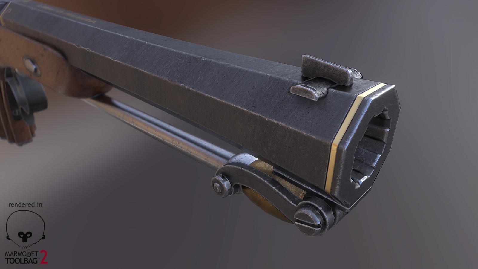 Capsule pistol, detail