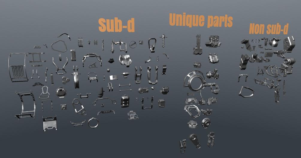 Evgeny Park free kitbash set - 3DCoat Exchange Library - 3D