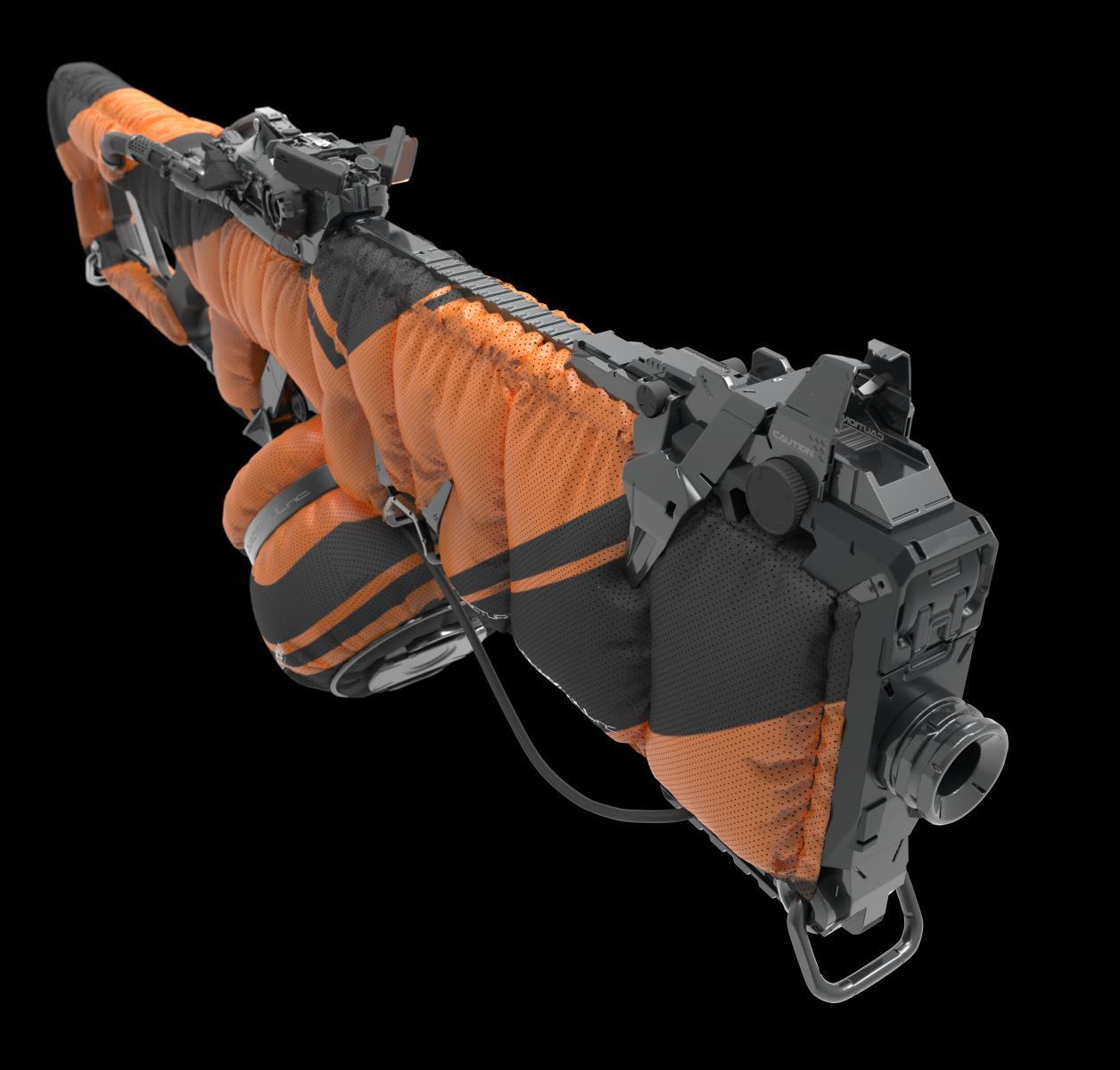 Nitrogen gun 3d model
