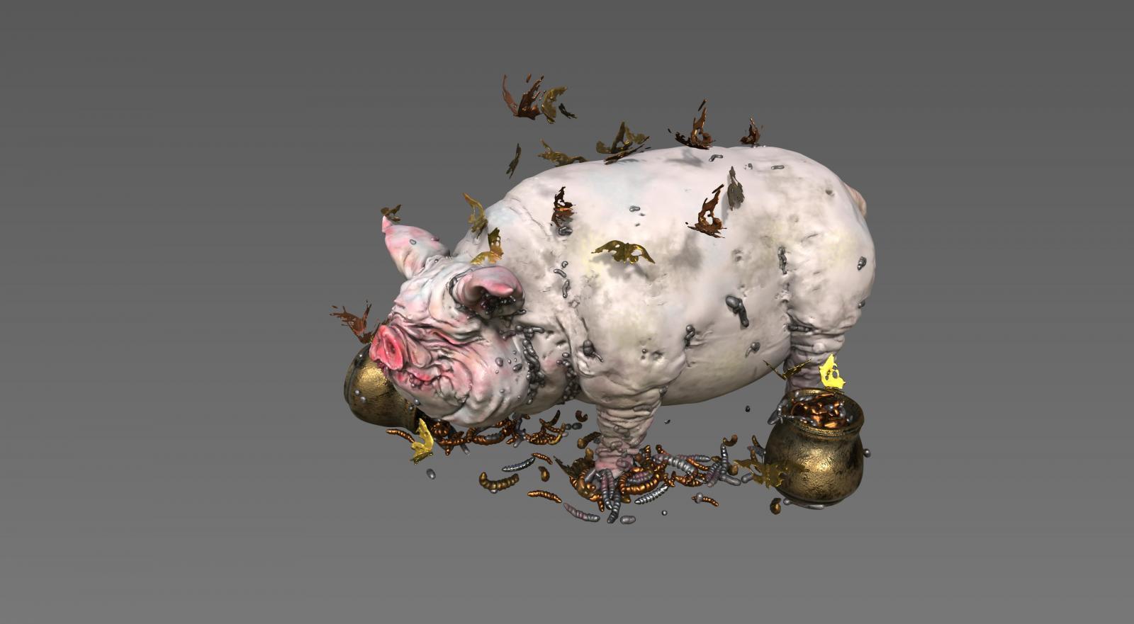 Pig sculpt