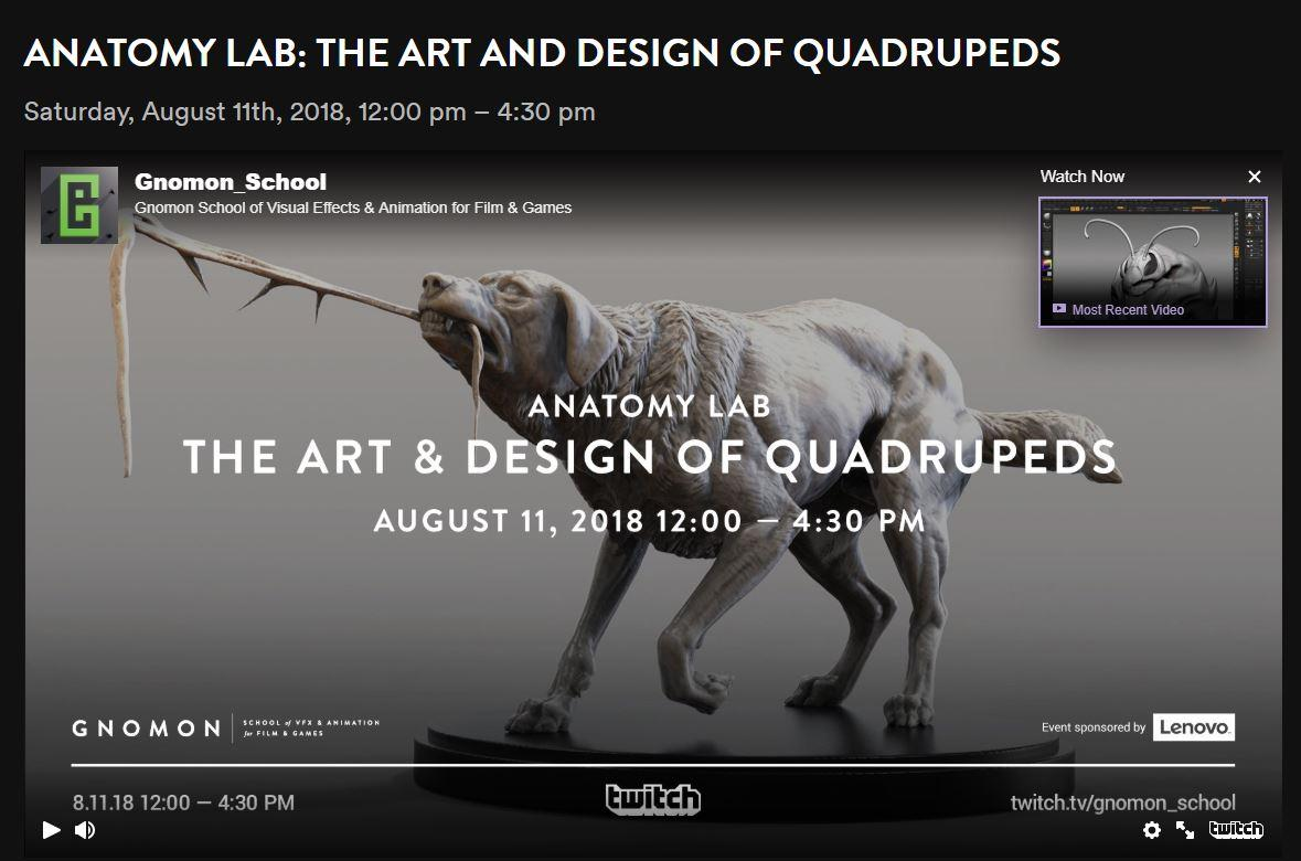 Sat. Aug. 11 Free Gnomon Online Lab; Anatomy Lab, The Art And Design ...