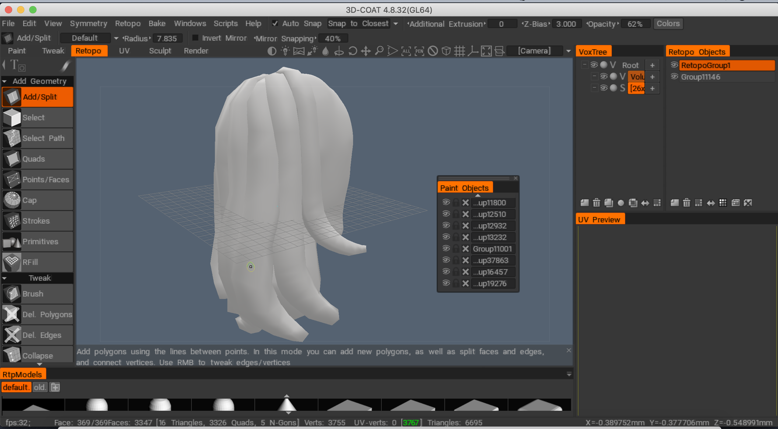 Solved] Import Mesh for retopology from Zbrush turns all