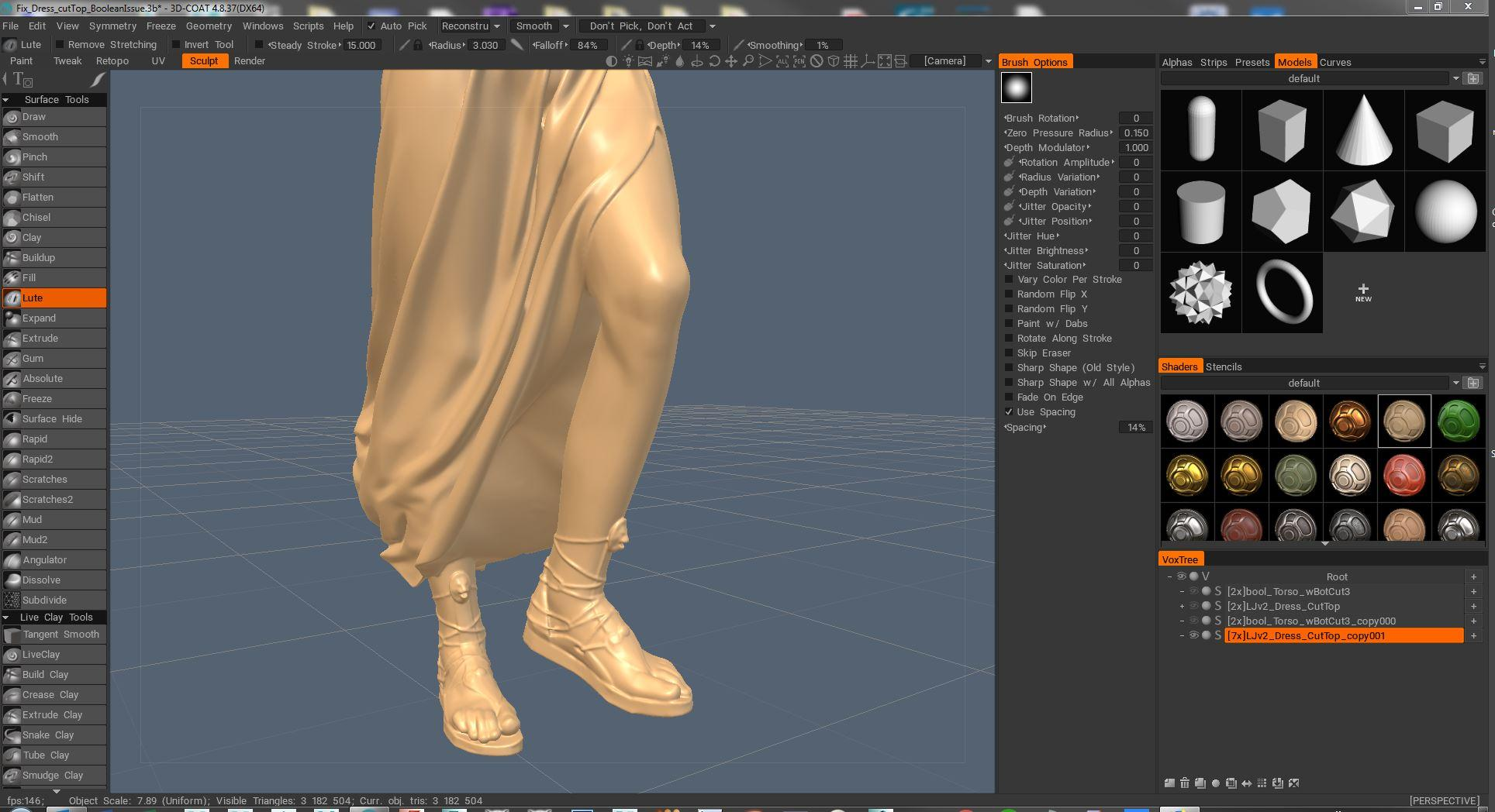 Brush to un smooth areas - 3DCoat - 3D Coat Forums