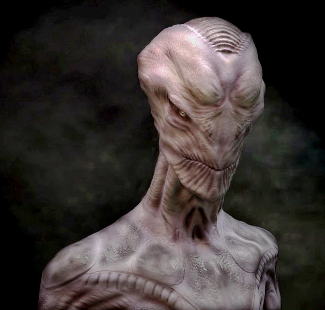 white alien