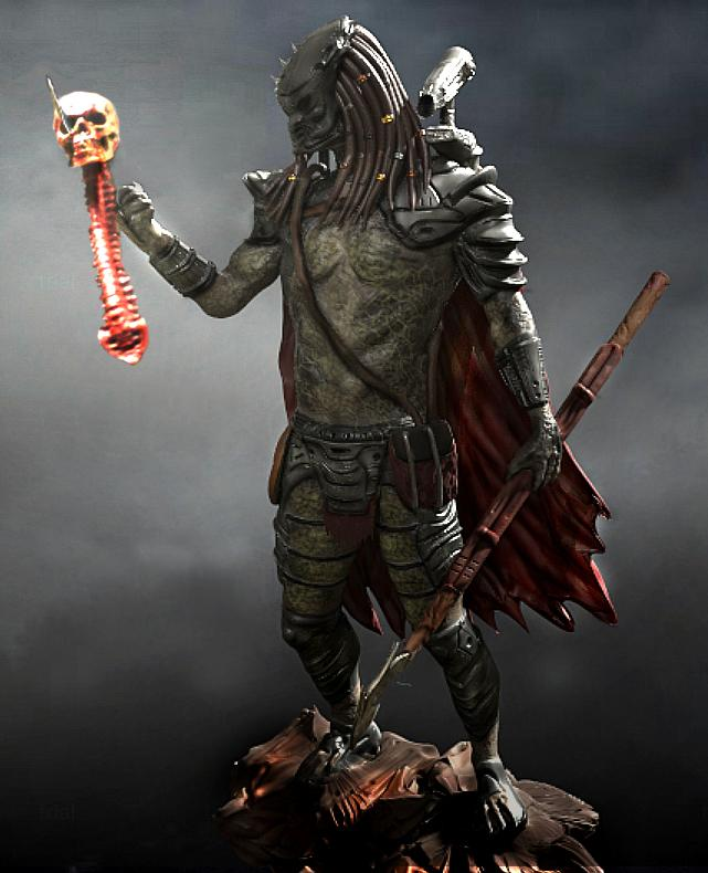 Predator with Trophy