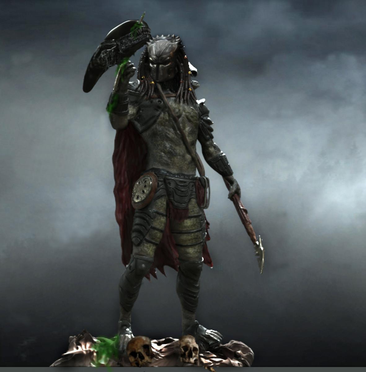 Predator with Xenomorph Trophy